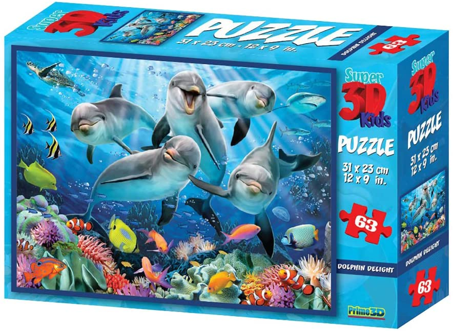 "3D pusle ""Dolphin Deligh"" 63tk"