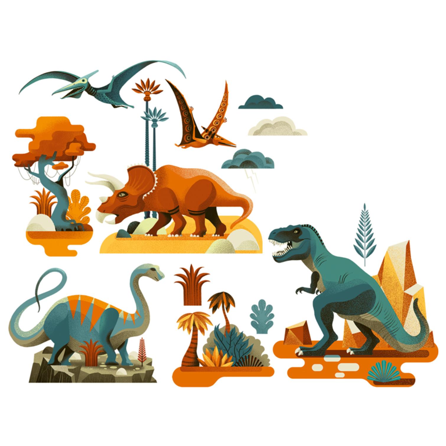 """Aknakleebised """"Dinosaurused"""""""