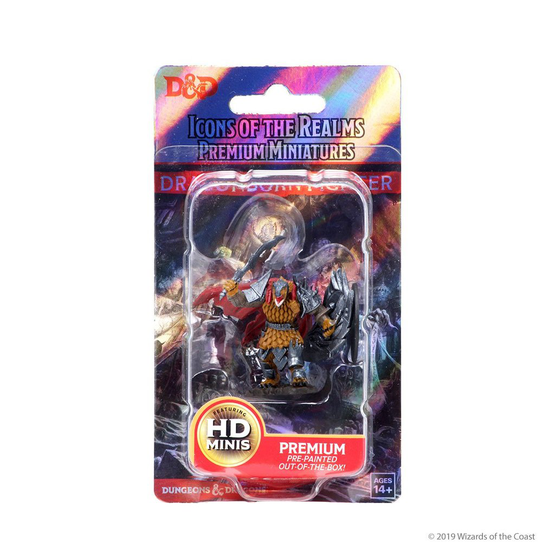 D&D Icons Male Dragonborn Fighter miniatuur