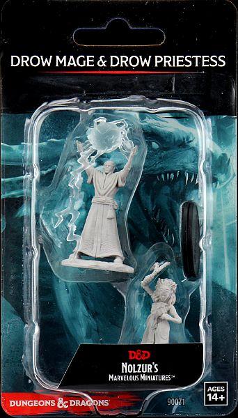 D&D Nolzur´s Drow Mage & Priestess miniatuurid