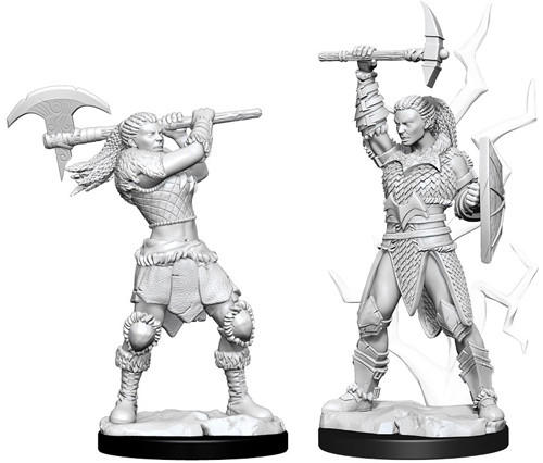 D&D Nolzur´s Female Goliath Barbarian miniatuurid