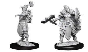 D&D Nolzur´s Female Half-Orc Barbarian miniatuurid