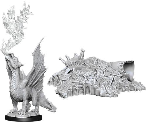 D&D Nolzur´s Gold Dragon Wyrmling & Small treasure miniatuurid