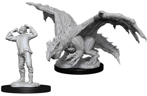 D&D Nolzur´s Green Dragon Wyrmling & Afflicted elf miniatuurid