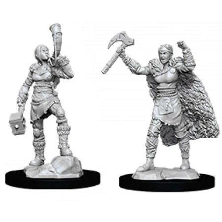 D&D Nolzur´s Human Barbarian Female miniatuurid