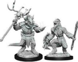 D&D Nolzur´s Lizardfolk & Shaman miniatuurid
