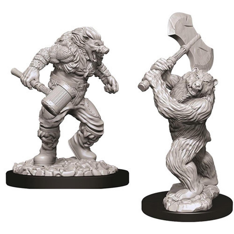 D&D Nolzur´s Wereboar & Werebear miniatuurid