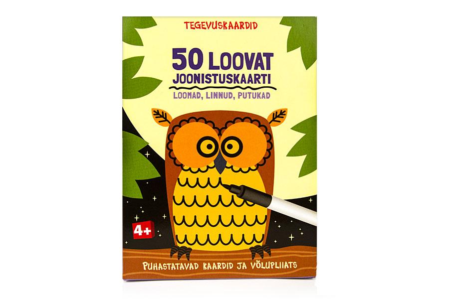 50 loovat joonistuskaarti. Loomad, linnud, putukad