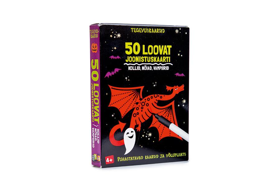 50 loovat joonistuskaarti: kollid, nõiad