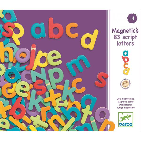 Wooden magnetics - 83 script letters