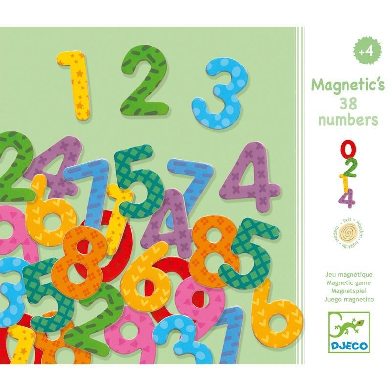 Puidust magnetid - 38 numbrit
