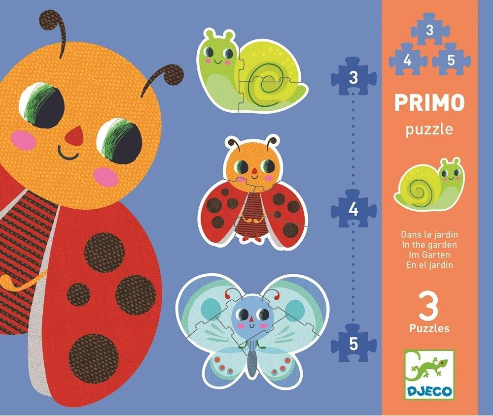 Progressive puzzle - Primo dans le jardin 3,4,5 pcs