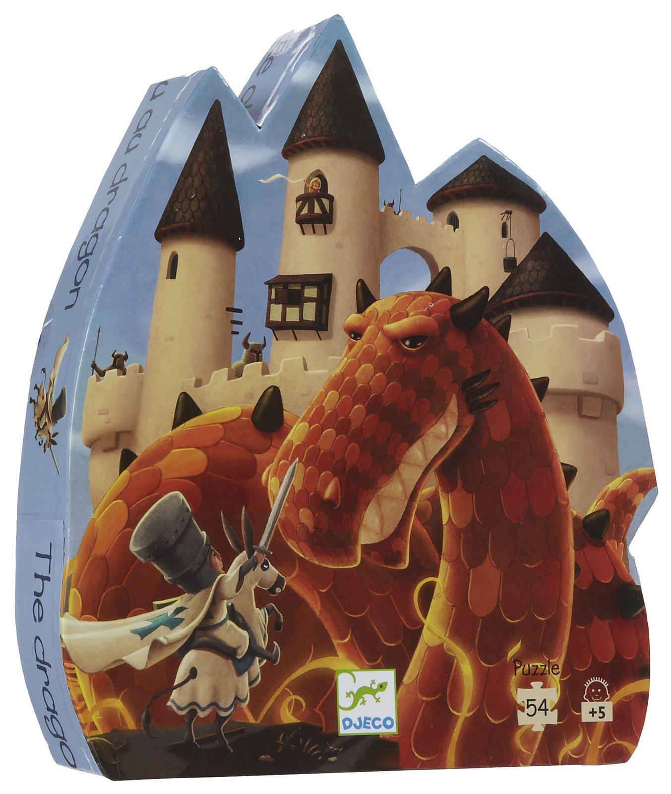 Silhouette puzzle - The dragon's castle - 54 pcs