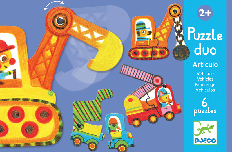 Duo-Trio Puzzles - Articulo vehicles