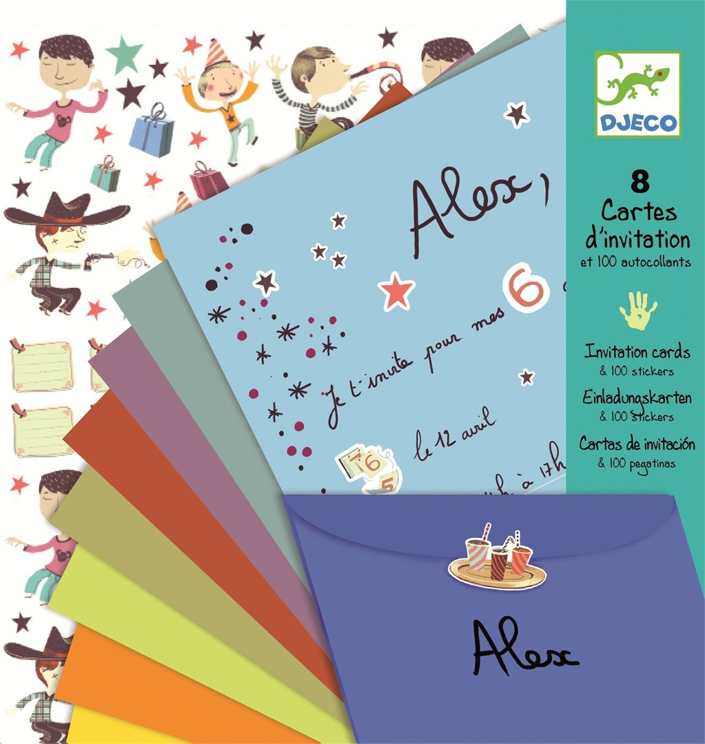 Invitation Letter Cards - Boys