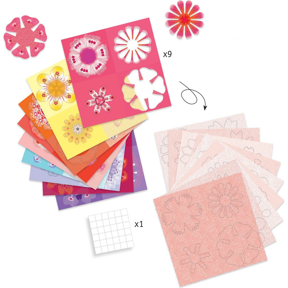 Small gift - Folding art - Flowers to create