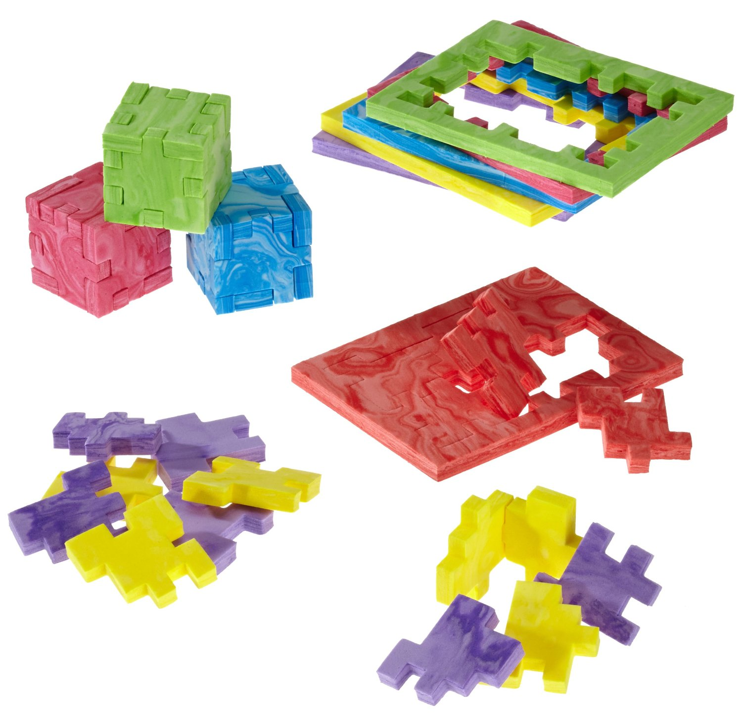 Marble Cube, 6-pack