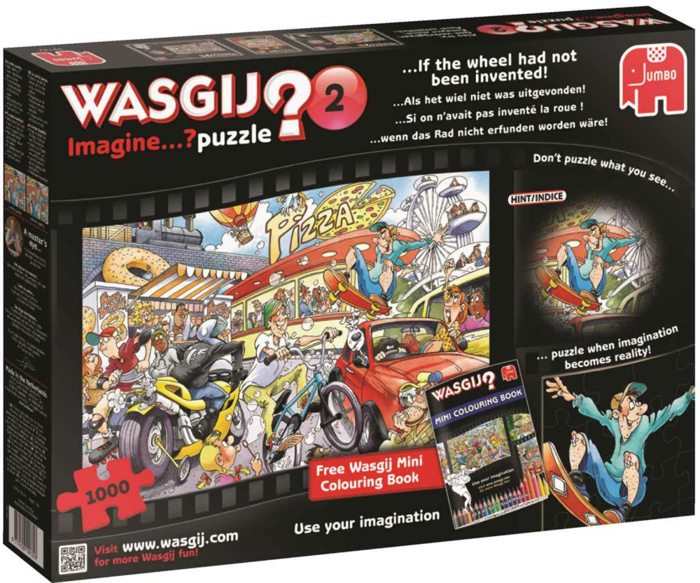 """Pusle """"Wasgij Imagine 2, If the Wheel had not been invented!"""", 1000 tk"""
