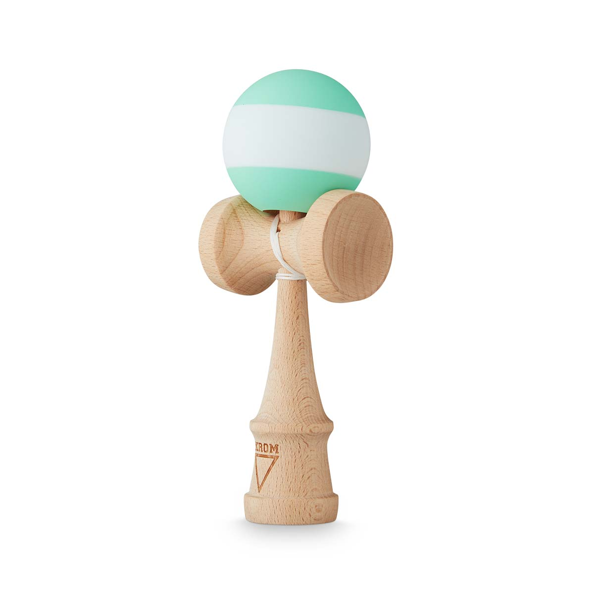 KROM Rubber Stripe Mint w. White kendama