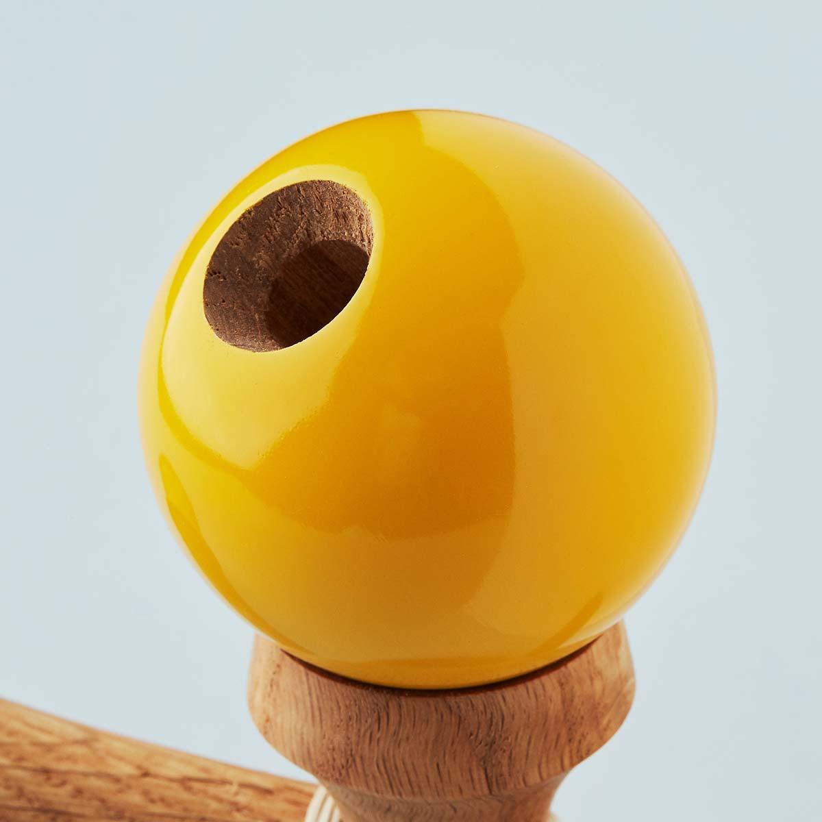 KROM Mahogany Mustard kendama