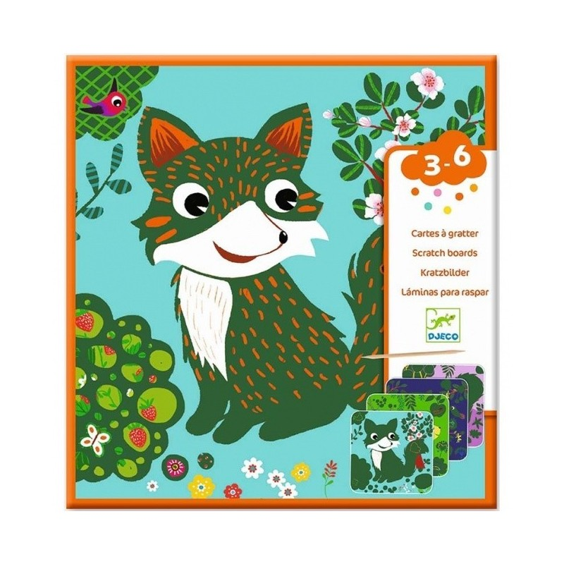 Scratch cards for little ones - Country