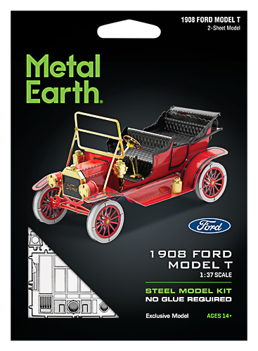 Metal Earth ''1908 Ford Model T, Punane''