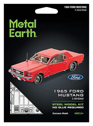 Metal Earth ''1965 Ford Mustang Coupe, punane''