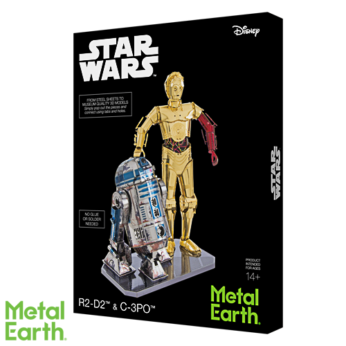 Metal Earth ''C-3PO & R2-D2 Deluxe''