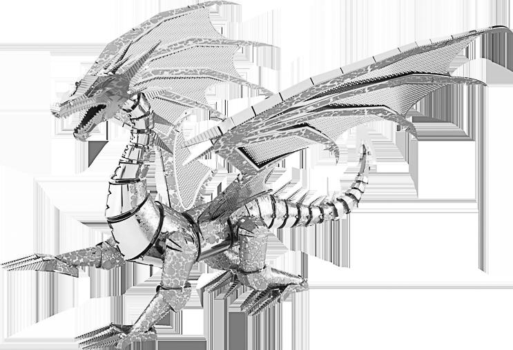 Metal Earth ''Silver Dragon''