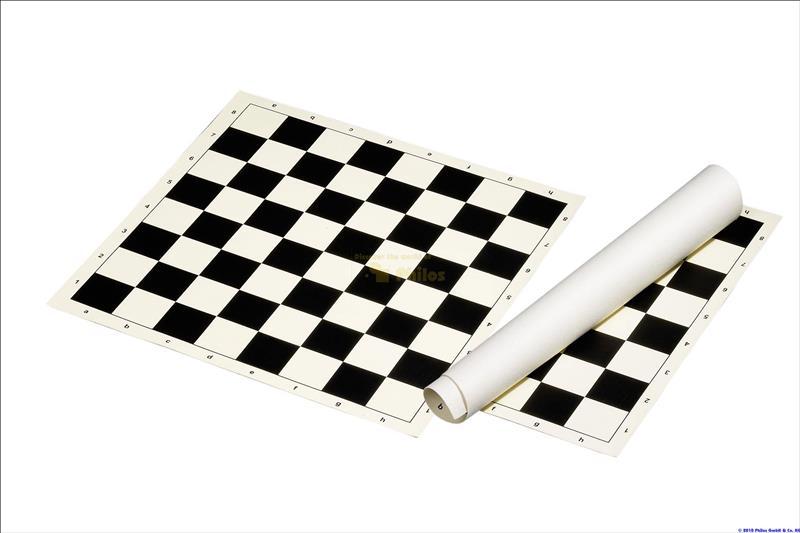 Kokkurullitav PVC malelaud, 50 mm