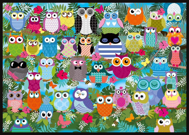 "Pusle ""Collage of Owls II"" 1000 tk"