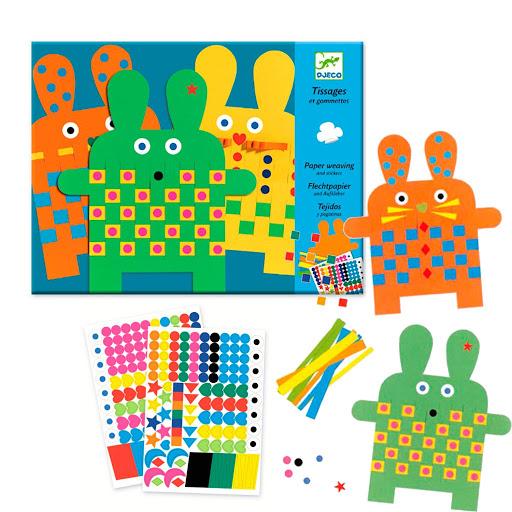 Waving paper- 6 bunnies
