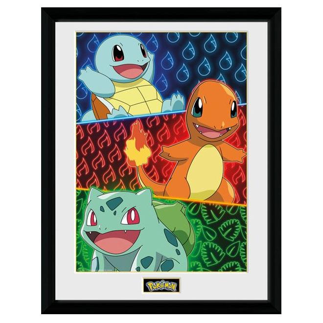 Pokémon Starters Glow Plakat