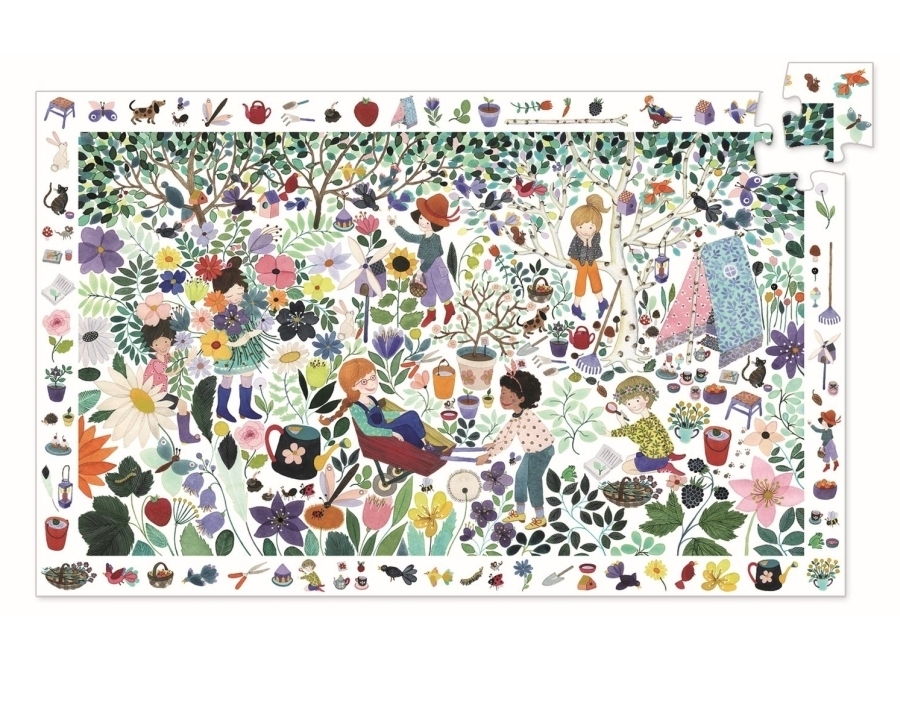 Observation puzzle - 1000 flowers - 100pcs