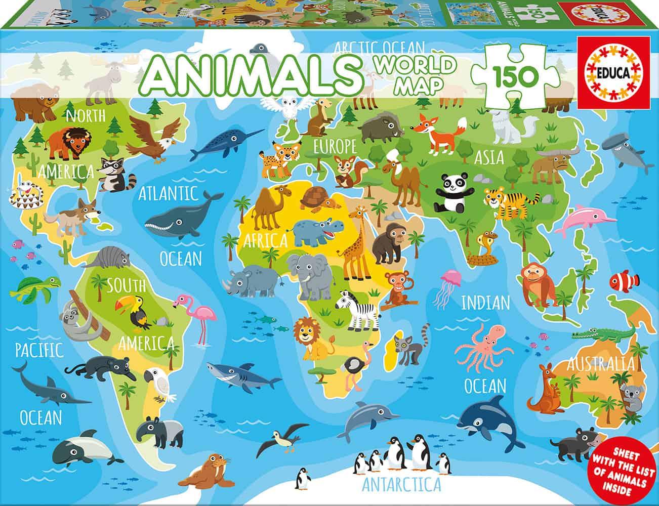 """Pusle """"Animals World Map"""" 150 tk"""