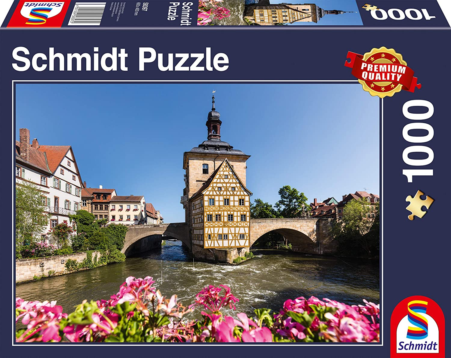 """Pusle """"Bamberg, Regnitz and Old Town hall"""" 1000 tk"""