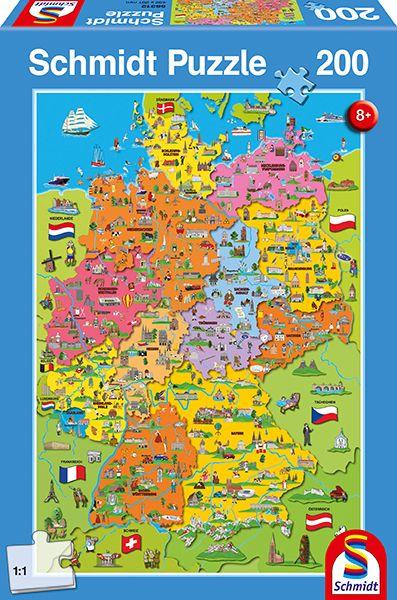 "Pusle ""Cartoon map of Germany"" 200 tk"