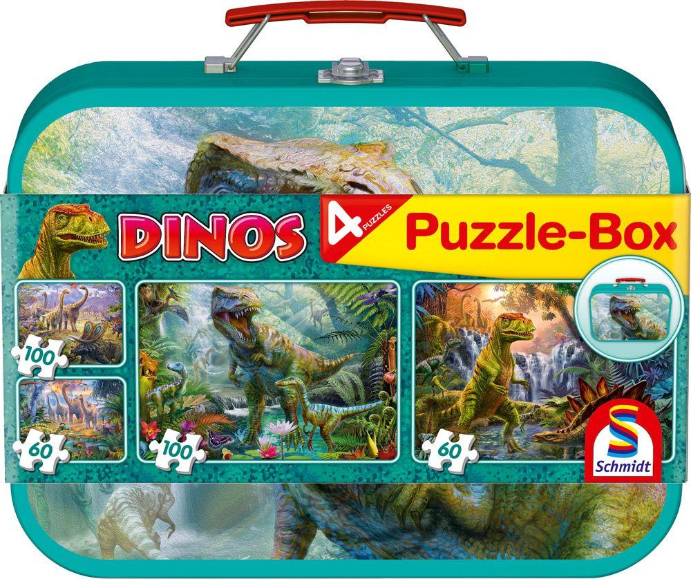 Dinosaurs, Puzzle Box, 2x60, 2x100 pcs