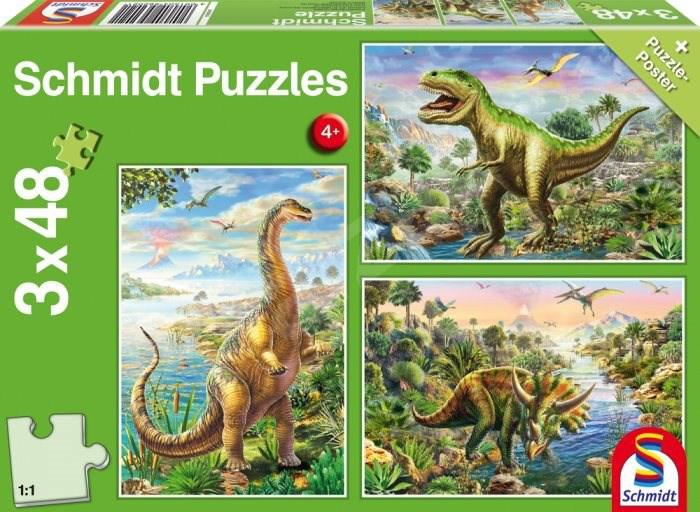 Pusle ''Dinosauruse Seiklused'' 3x48 tk