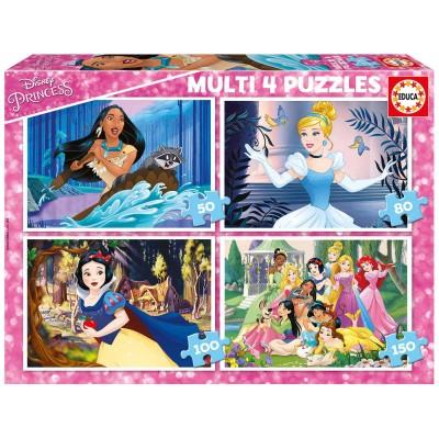"""Pusle """"Disney Princess"""" 4 in 1, 50, 80, 100 ja 150 tk"""