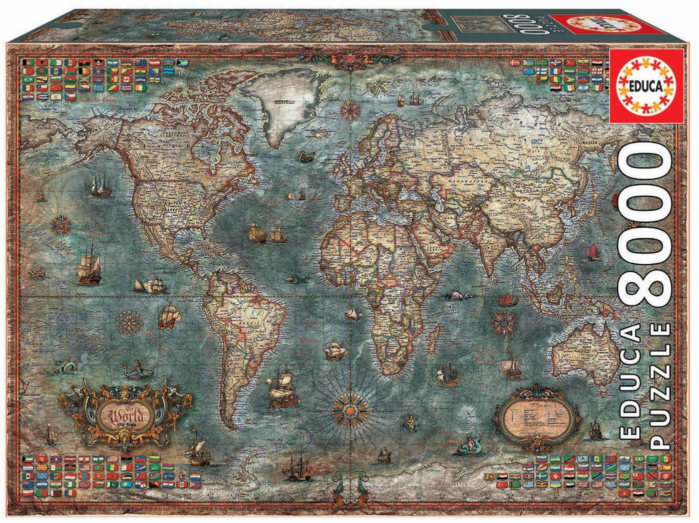 """Pusle """"HISTORICAL WORLD MAP"""" 8000 tk"""