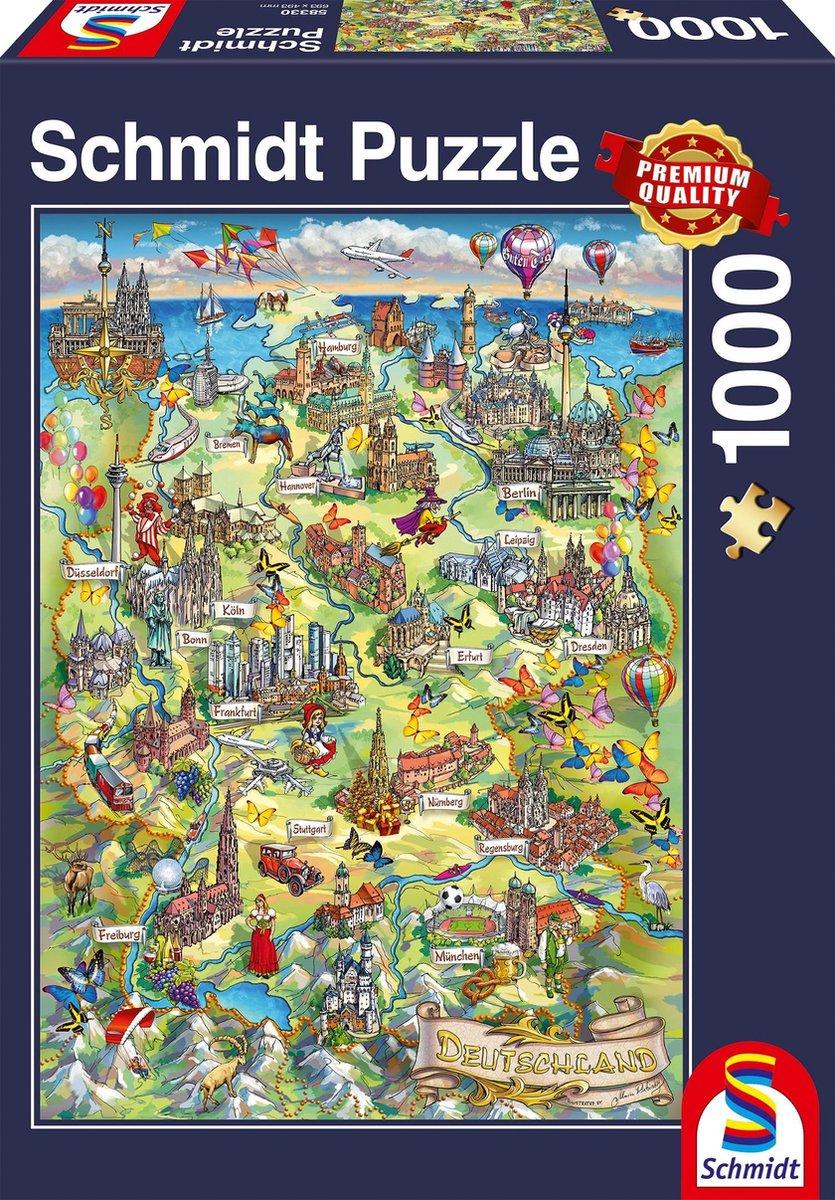 Pusle ''Illustreeritud Saksamaa kaart'' 1000tk