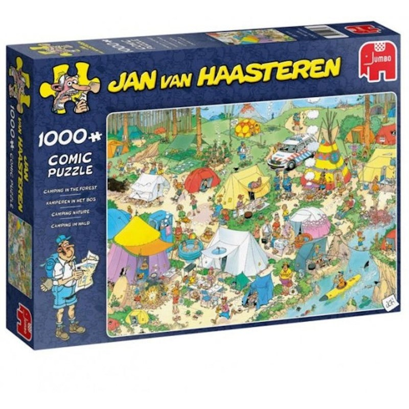 Pusle ''Jan van Haasteren - Camping in the Forest'' - 1000tk