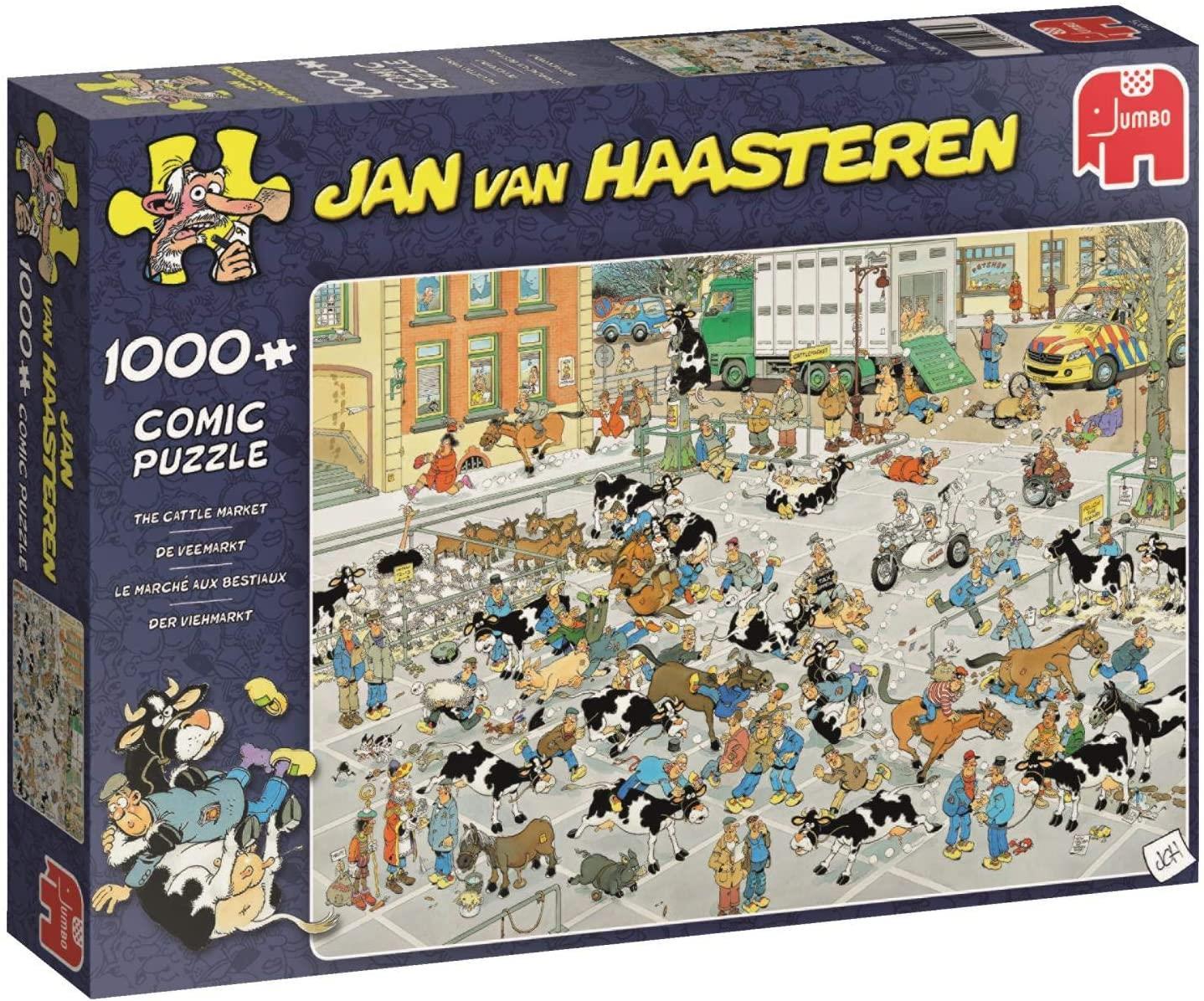 Pusle ''Jan van Haasteren - Cattle Market'' - 1000tk
