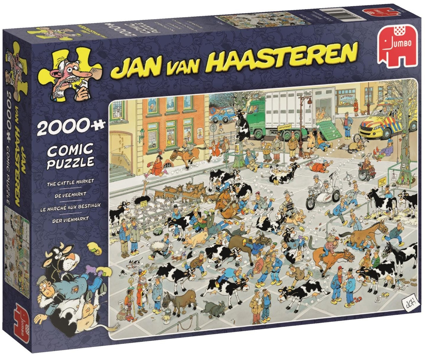 Pusle ''Jan van Haasteren - Cattle Market'' - 2000tk