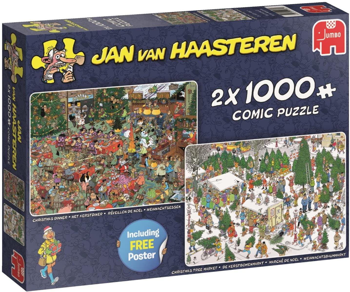 Pusle ''Jan van Haasteren - Christmas Gifts'' - 2x 1000tk