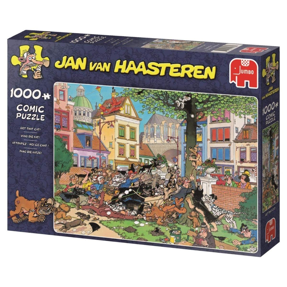 Pusle ''Jan van Haasteren - Get that Cat!'' - 1000tk