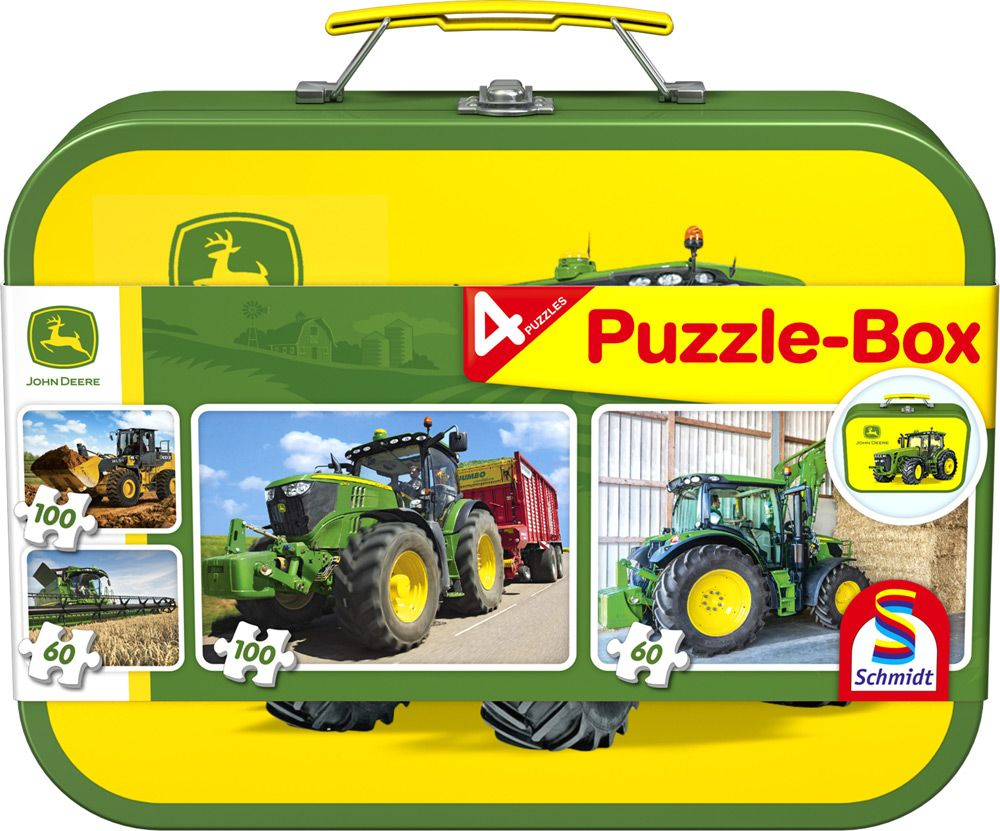 John Deere, Puzzle Box, 2x60, 2x100 pcs