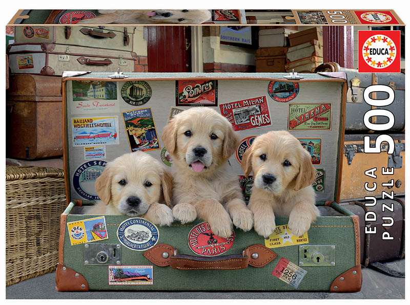 "Pusle ""PUPPIES IN THE LUGGAGE"" 500 tk"
