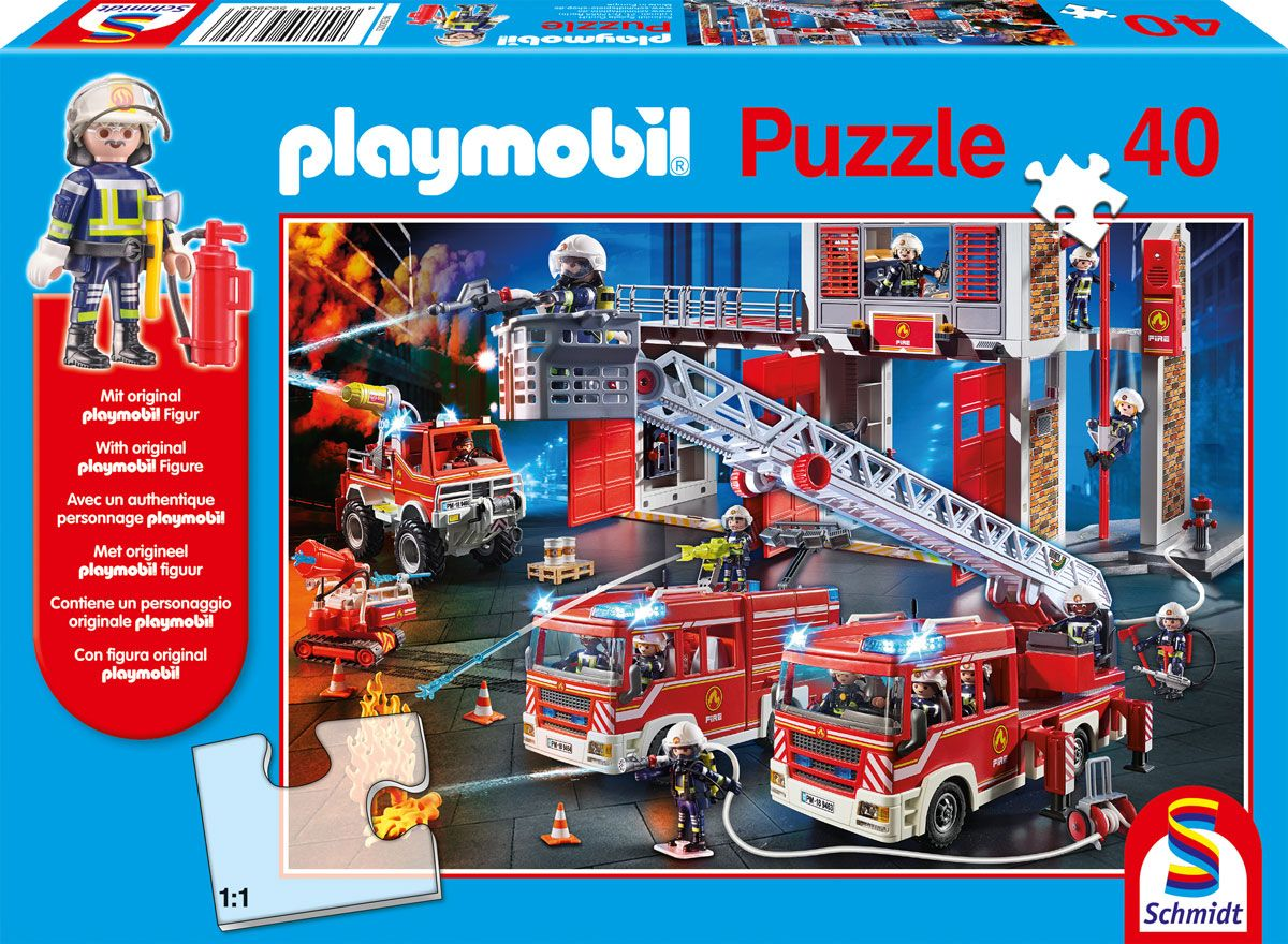 "Pusle ""Playmobil, Firebrigade"" 40 tk"